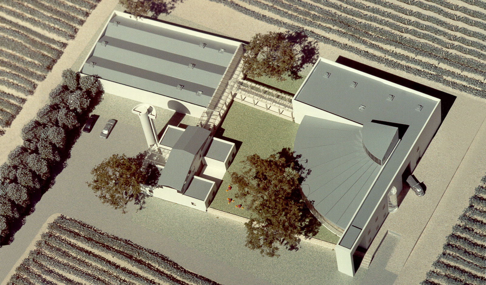 winery design and layout - top view