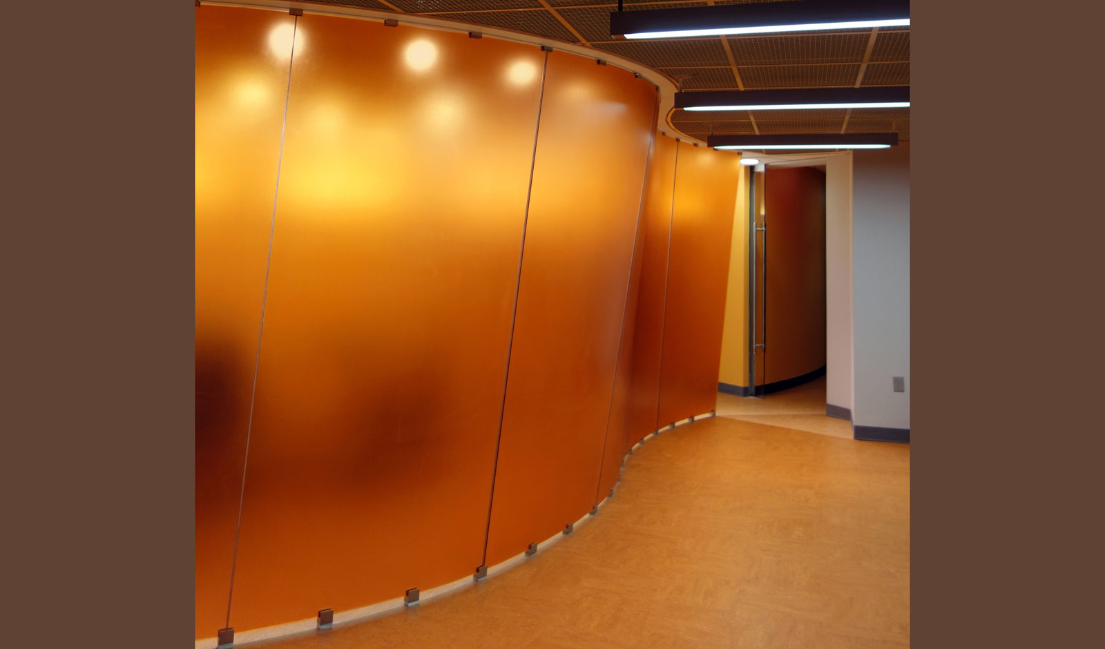 feature art wall design in heat-molded ecoresins