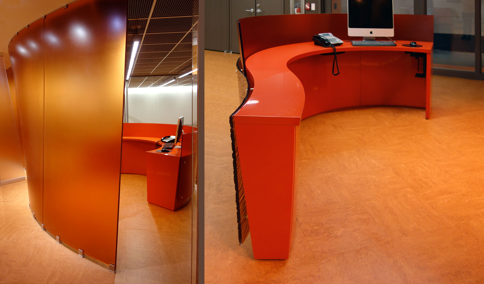 custom reception desk design